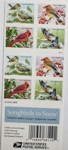 Songbirds in Snow Take Flight 1st Class (USPS) 2016  FOREVER Stamps 20 - $16.95