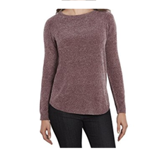 Tracy Ellen Women's Tweed Sweaters, Bordeaux, Size L - $18.80