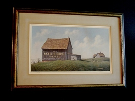 Jim Harrison RURAL AMERICANA Print RARE LE Signed Numbered Mail Pouch To... - $220.00