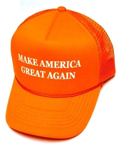82be69c91ed8c Make America Great Again Hat Donald Trump 2016 Trucker Orange Cap w  Mesh  Back -  14.99