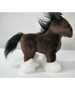 Ganz Stately Clydesdale Horse Plush Stuffed Toy Huggable Lovable Brown Pony - $16.95