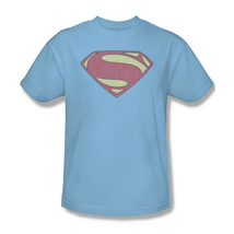 Superman T-shirt Distressed Logo blue cotton retro super hero graphic tee SM2060 image 2