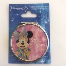 Disneyland Paris 25th Anniversary Minnie Mouse Pink Mirrored Compact - $29.70