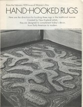 1970 Woman's Day 3 Vintage Hooked Rug Patterns - $20.50