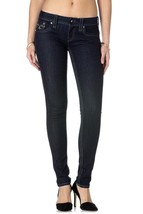 ROCK REVIVAL WOMENS JEANS KAILYN S201 SKINNY CUT JEAN DARK DENIM RP9240S201 - $142.49