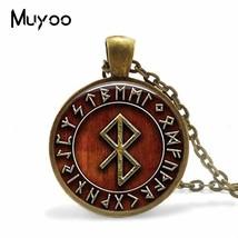 2019 Vinatge Viking Peace Rune in Runic Circle Pendant Viking Amulet Sym... - $7.89