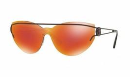 Versace Women Sheild Sunglasses VE2186 14156Q Purple Frame Orange Custom... - $108.89
