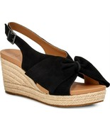 UGG Camilla Black Suede Bow Slingback Wedge sz 9 New - $48.19