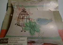 Dimensions 72-73569 Birdcage Pillow Cover Fabric Applique 14x14 Jillian Phillips - $33.69