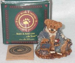 Boyd Bearstone Resin Bears 1994 Wilson The Perfesser Figurine #2222 13E NEW image 3