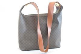 CELINE Macadam Shoulder Bag Brown Auth 2242 - $210.00