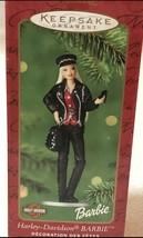 Harley Davidson Barbie Figurine Christmas Ornament Keepsake 2000 Hallmar... - $11.29
