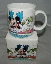 Vtg Nuovo in Scatola Walt Disney Nuoto Topolino Tazza Mug Ceramica da Ap... - $29.69