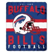 Buffalo Bills Blanket Fleece Throw By Northwest Singular Series Nwt - $18.65