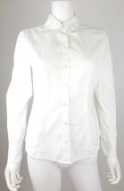 Ann Taylor Loft Womens Size 6 Anixte Solid White Button Down Long Sleeve... - $14.50