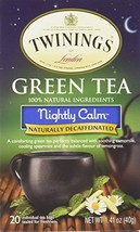 Twinings Nightly Calm Green Tea, 20 Tea Bags - $5.37