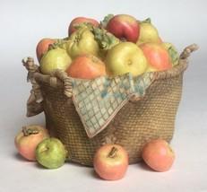 Marjolein Bastin Apple Basket Trinket Box w Lady Bugs by Hallmark - $14.80