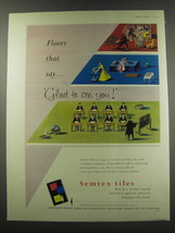 1957 Semtex Tiles Advertisement - Floors that say glad to see you - $14.99