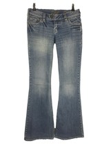 "Silver Jeans Women's Size 27, Tuesday 22"" Flare Leg, Distressed, 33"" Inseam - $19.76"