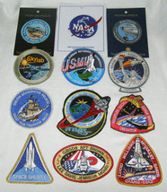 LOT OF 12 NASA+SPACE SHUTTLE+SKY LAB+VARIOUS SPACE MISSIONS+ EMBROIDERED... - $88.11
