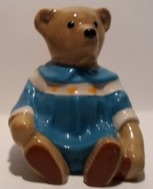 Vtg 1998 Toy Box Series Amelia Bear Figurine by Wade of England Porcelain  - $14.84