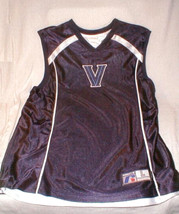 russell Athletics Basketball Jersey V blue white college SZ L  Sleeveless - $33.00