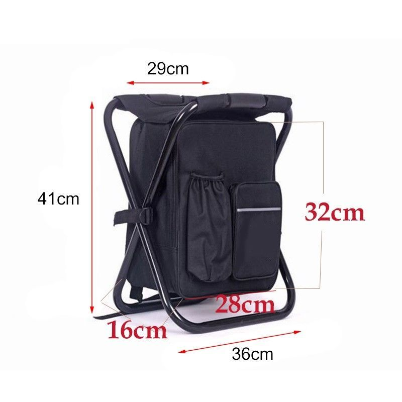 Chair Cooler Bag Beach Camping Fishing Picnic Backpack Folding Multi Function