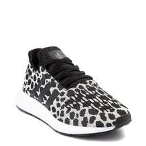 NEW Womens adidas Swift Run Athletic Shoe Cheetah Leopard Black/White Wo... - $197.95+