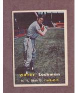 1957 Topps # 232 Whitey Lockman New York Giants Nice Card - $3.99