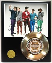 One Direction Gold Record Reproduction Signature Series LTD Edition Display - $85.45