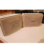 Pair of Bose 9x6x6 Roommate AC Powered Stereo Speakers white w/Stereo P... - $98.99