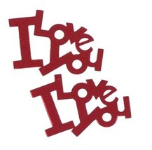 Confetti Word I Love You Red - As low as $1.81 per 1/2 oz. FREE SHIP - $3.95+