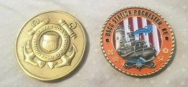 "COAST GUARD STATION ROCHESTER NEW YORK 1.75"" CHALLENGE COIN - $17.14"