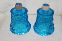 HOMCO HOME INTERIORS BLUE FLORAL VOTIVE CANDLE HOLDERS - $9.99