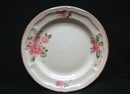 """Old Vintage Roseland by Gibson Housewares China 7"""" Salad Plate Pink Roses Trim - $14.84"""