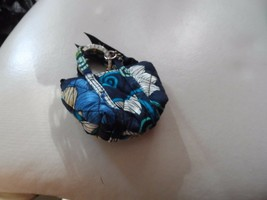 Vera Bradley Mod Floral Blue mini Miller keychain  - $22.00
