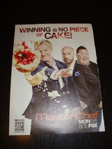 Masterchef TV show 1 magazine clipping AD mini poster Gordon Ramsay - $11.30