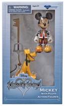 Diamond Select Kingdom Hearts Mickey Mouse & Pluto Exclusive Action Figu... - $19.95