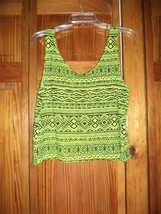FOREVER 21 neon green/black print sleeveless top sz M woman - NWT - $6.92