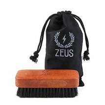 ZEUS 100% Boar Beard Brush for Men, Soft Second-Cut Bristles