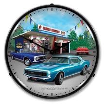 Retro Nostalgic 1967 Camaro Car Game Room Man Cave Backlit Lighted Wall ... - $129.95