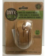 (New) Onyx + Green Handmade Wireless Computer Bamboo  Mouse 2.4 ghz - $25.73