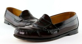 Cole Haan Dark Brown / Reddish Brown Penny Loafers Men's 8.5 D Dress Shoes - $24.95