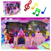 Princess Castle Playset w/ Light & Sound 13 Piece Folding Set (Lot of 6 ... - $84.10
