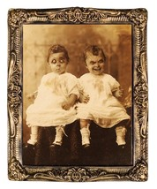 HUGE Demon Monster TWINS LENTICULAR PICTURE PORTRAIT Haunted House Decor... - $39.57