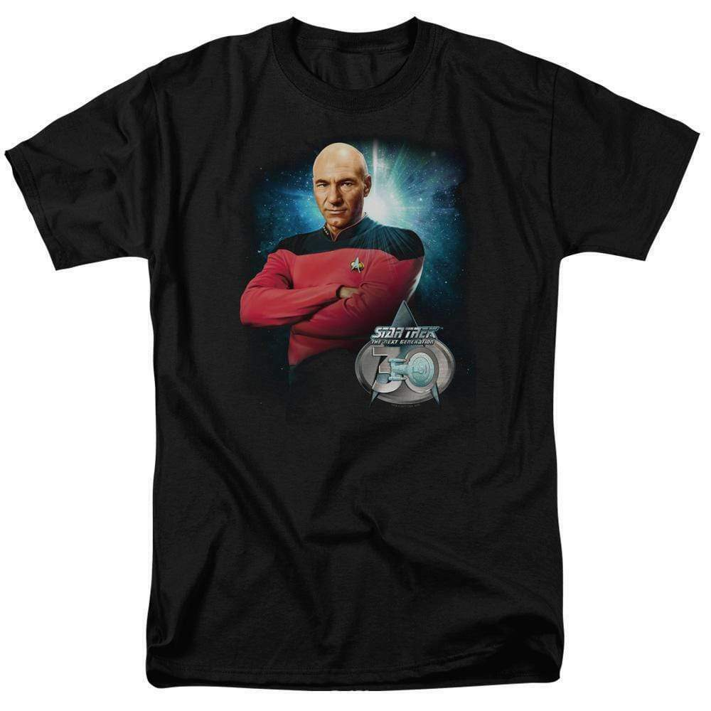 Star Trek The Next Generation 30th Capt Jean-Luc Picard graphic t-shirt CBS2245