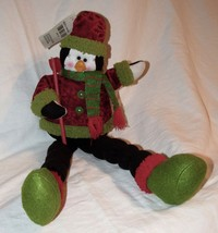 "Christmas by Oscar Stuffed Penguin 24"" Sitting ... - $11.87"
