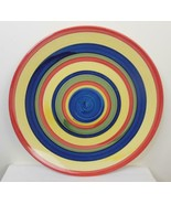 Set of 2 Swirl Design Multi Colored Hand-Painted Salad Plate Stonemite - £10.79 GBP