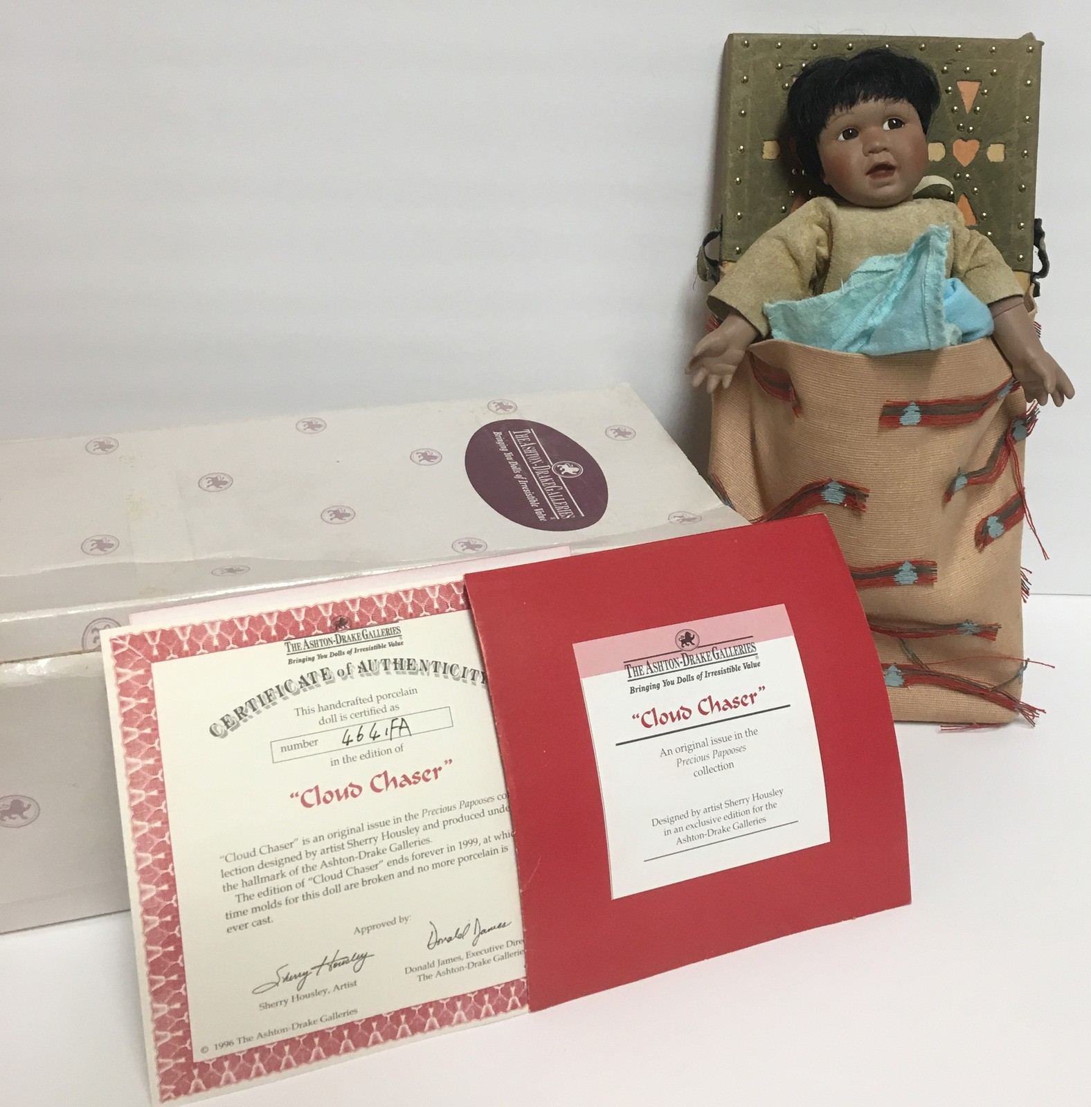Cloud Chaser Native American Doll Papoose Ashton-Drake Galleries image 2