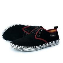 Leather Genuine 100 Merkmak Shoes Handmade Suede Reto Casual Men Brand Luxury X67Fwq
